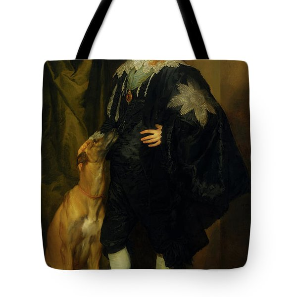 Tote Bag featuring the painting James Stuart - Duke Of Richmond And Lennox                       by Anthony Van Dyck