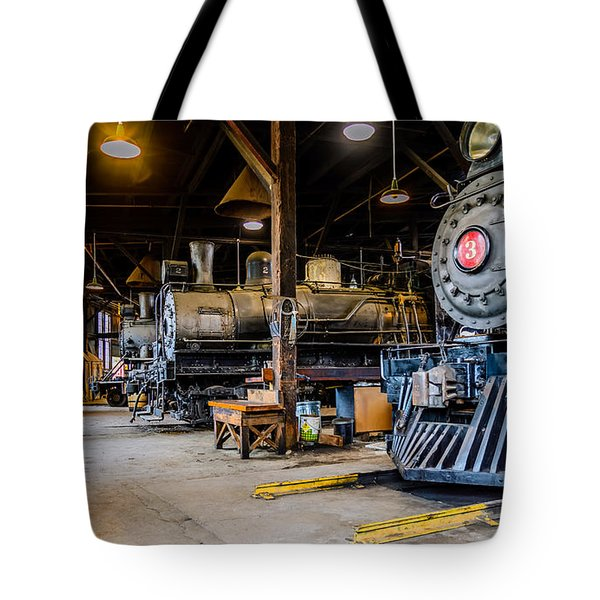 Jamestown Roundhouse Tote Bag