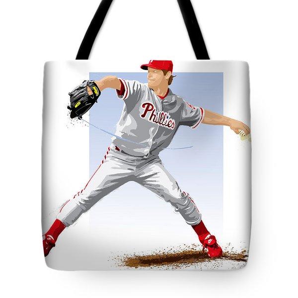 Jamie Moyer Tote Bag by Scott Weigner