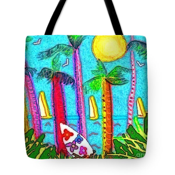 Tote Bag featuring the mixed media Jammin by Holly Martinson