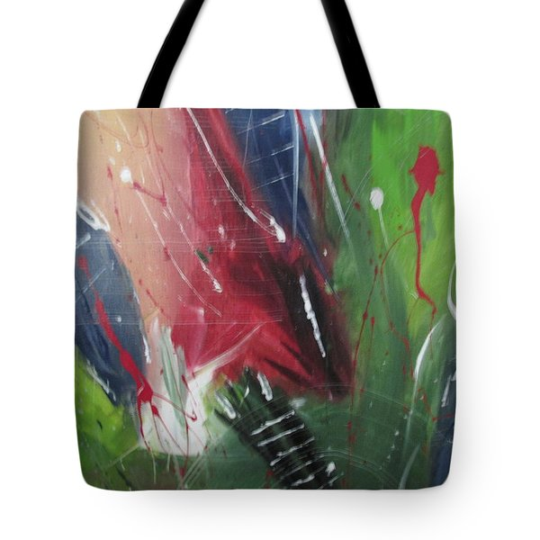 Tote Bag featuring the pastel Jammin by Sharyn Winters