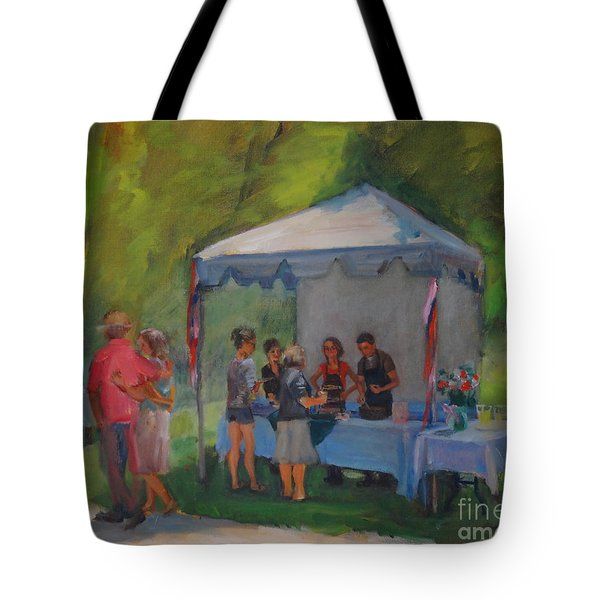 Jamming In The Gardens Tote Bag