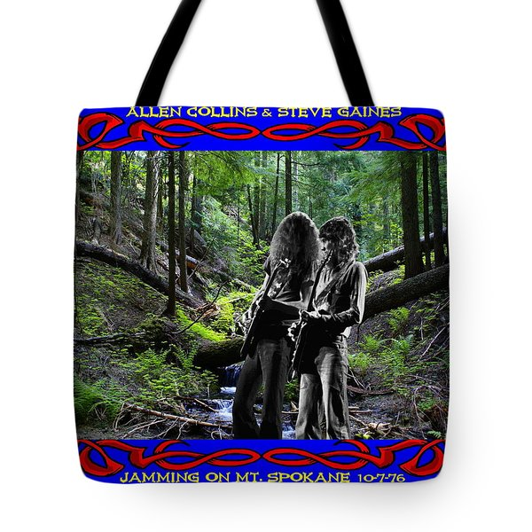 Tote Bag featuring the photograph Jamming On Mt. Spokane 1 by Ben Upham