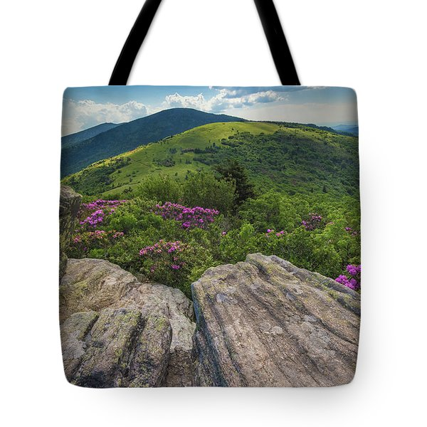 Jane Bald Rhododendrons Tote Bag