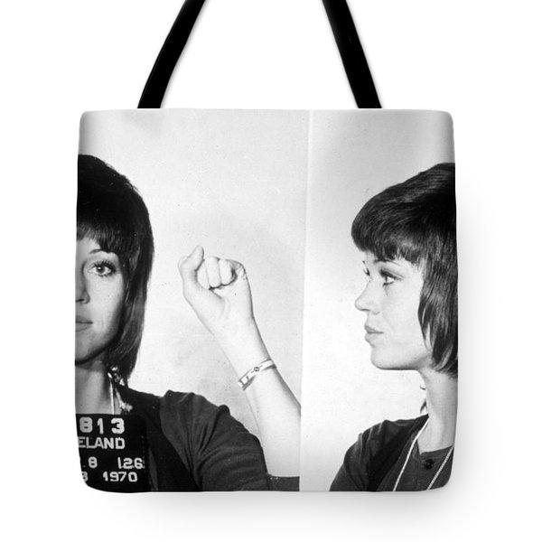 Jane Fonda Mug Shot Horizontal Tote Bag