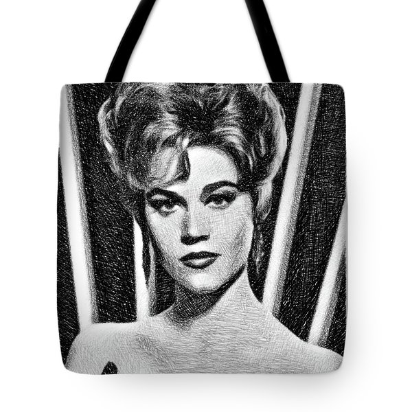 Jane Fonda, Vintage Actress By Js Tote Bag