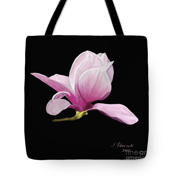 Tote Bag featuring the painting Japanese Magnolia Floral by Judy Filarecki