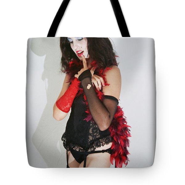 Janet Weiss During A Rhps Performance 2 Tote Bag