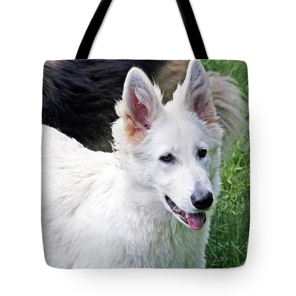 Janie As A Pup Tote Bag