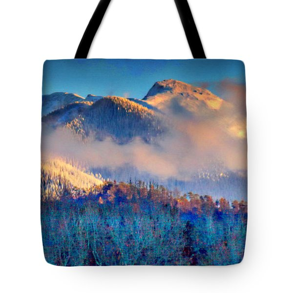 January Evening Truchas Peak Tote Bag