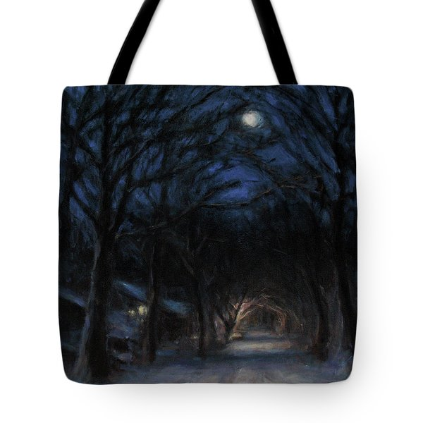 January Moon Tote Bag by Sarah Yuster