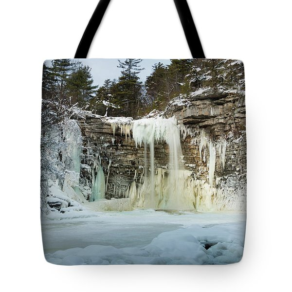 January Morning At Awosting Falls Tote Bag