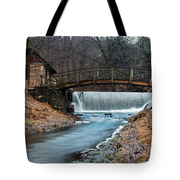 January Morning At Gomez Mill #1 Tote Bag by Jeff Severson