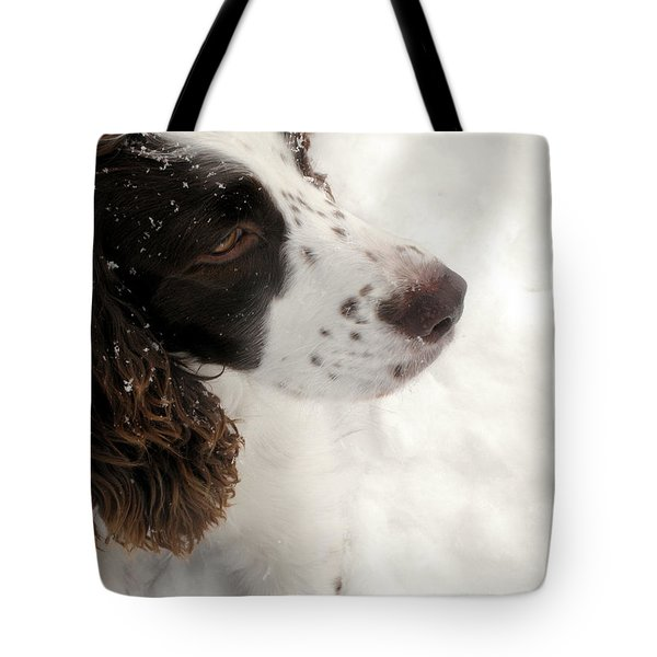 January Spaniel - English Springer Spaniel Tote Bag by Angie Rea