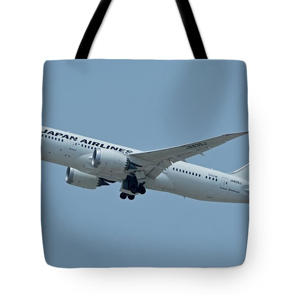 Japan Airlines Boeing 787-8 Ja835j Los Angeles International Airport May 3 2016 Tote Bag by Brian Lockett