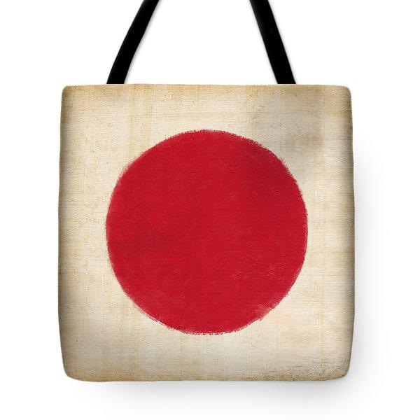 Japan Flag Tote Bag by Setsiri Silapasuwanchai