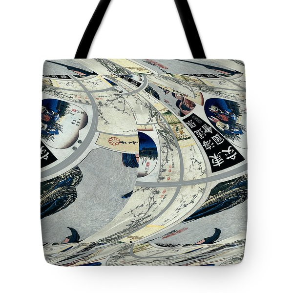 Japanese Bold Abstract Tote Bag