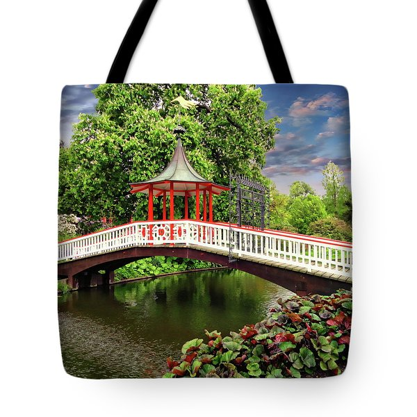 Japanese Bridge Garden Tote Bag