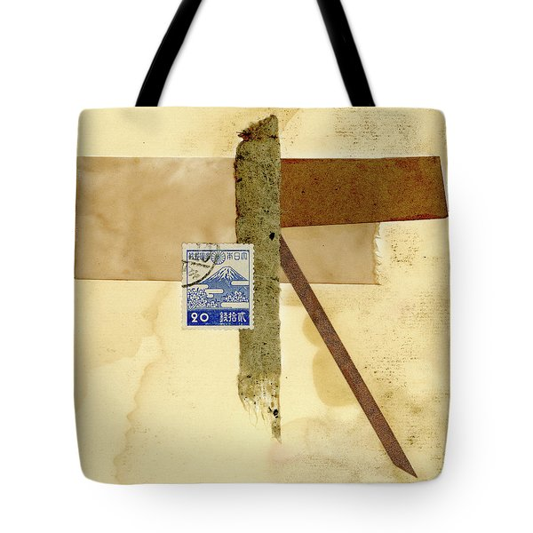 Japanese Collage With Fujiyama Postage Stamp Tote Bag