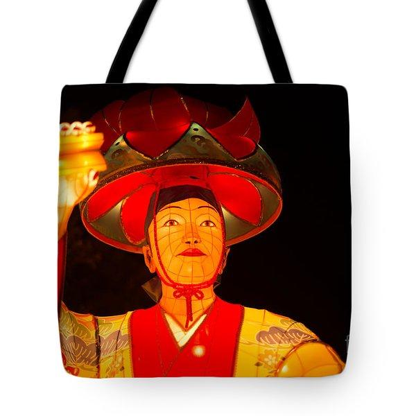 Japanese Dancer Lantern 2 Tote Bag