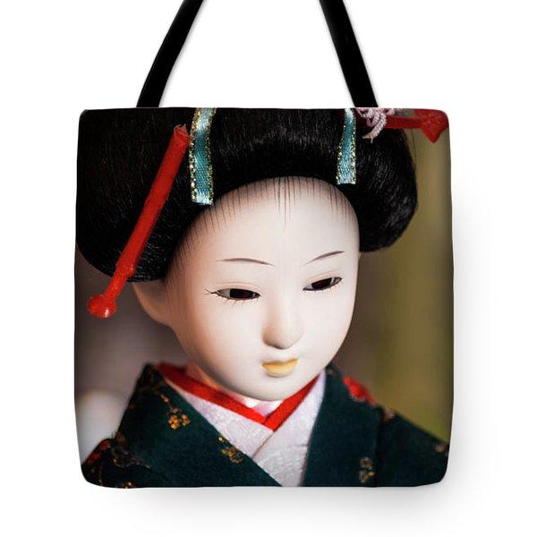 Japanese Doll Tote Bag
