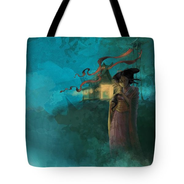 Japanese Fable Tote Bag