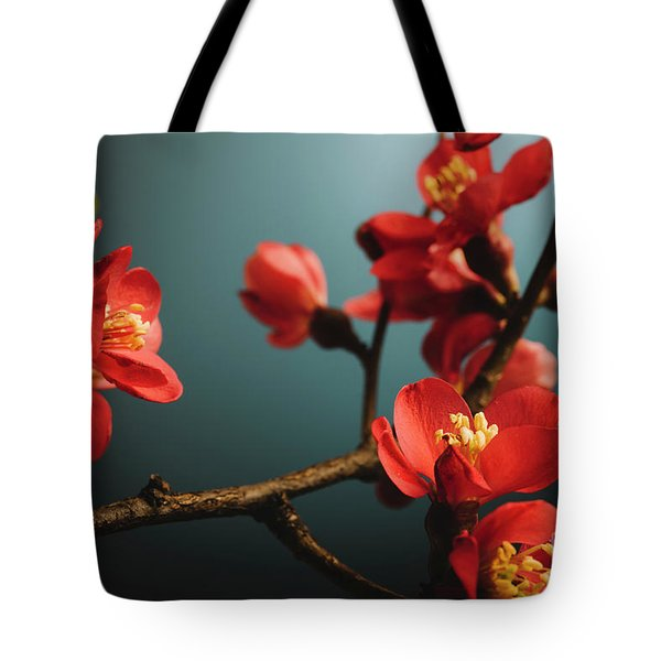 Japanese Flower Tote Bag