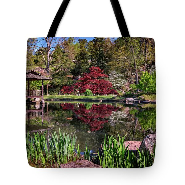 Tote Bag featuring the photograph Japanese Garden At Maymont by Rick Berk