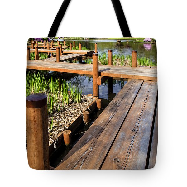 Japanese Garden Foot Bridge Tote Bag