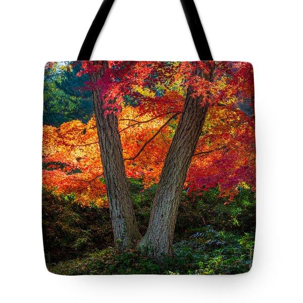Japanese Garden Grove Tote Bag