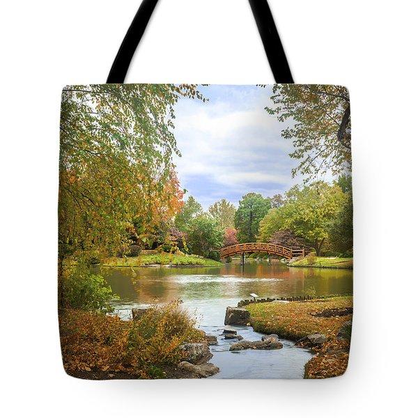 Tote Bag featuring the photograph Japanese Garden View by David Coblitz