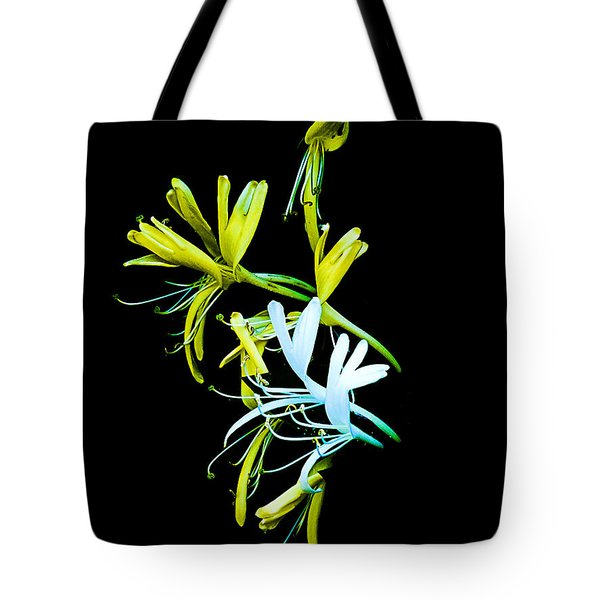Tote Bag featuring the photograph Japanese Honeysuckle by Bill Barber