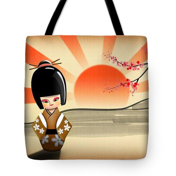 Japanese Kokeshi Doll Tote Bag