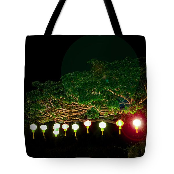 Japanese Lantern Tree Tote Bag