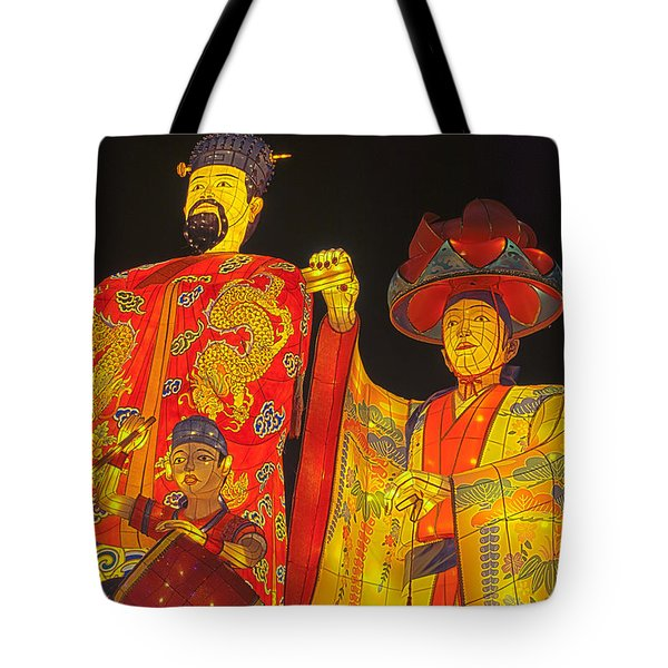 Japanese Lanterns King And His Dancers Tote Bag