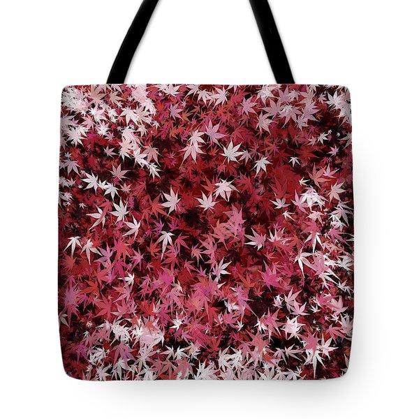 Japanese Maple Leaves Tote Bag
