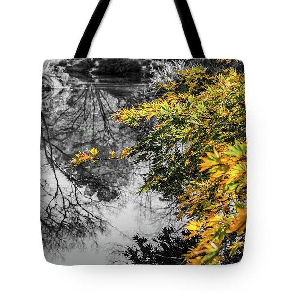 Japanese Maple Pop Tote Bag