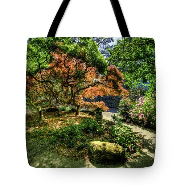 Japanese Maples In Spring Tote Bag by Jerry Gammon