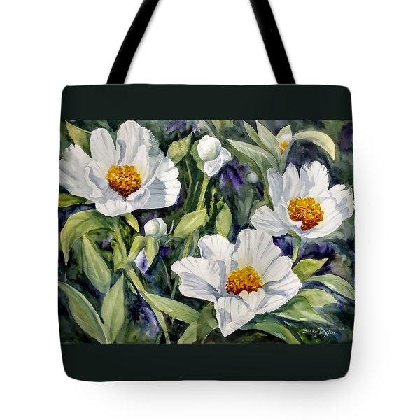 Japanese Peonies Tote Bag