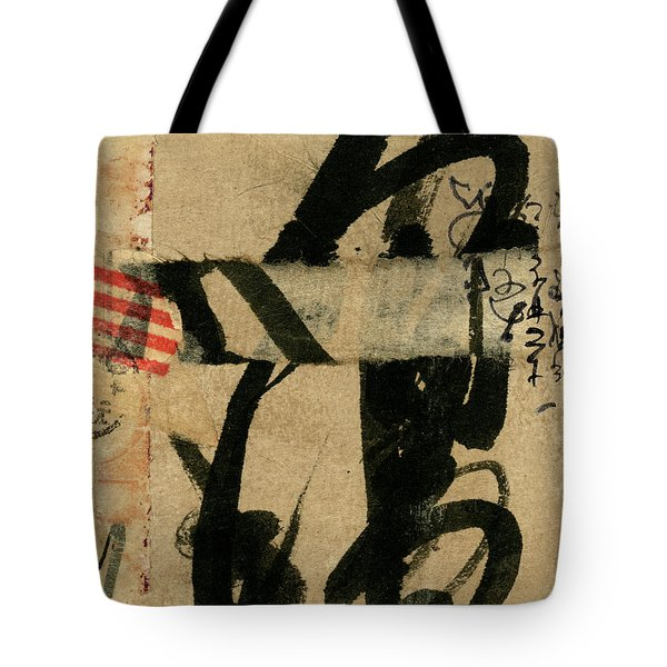 Japanese Postcard Collage Tote Bag