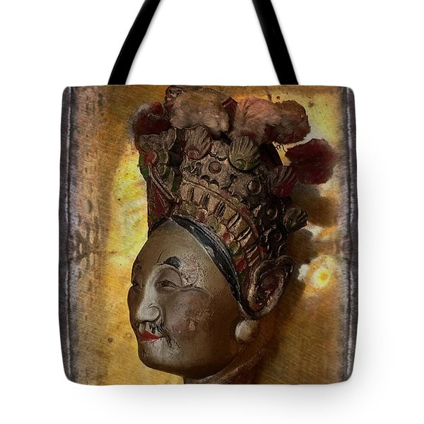 Japanese Puppet Head Single Tote Bag by Jeff Burgess