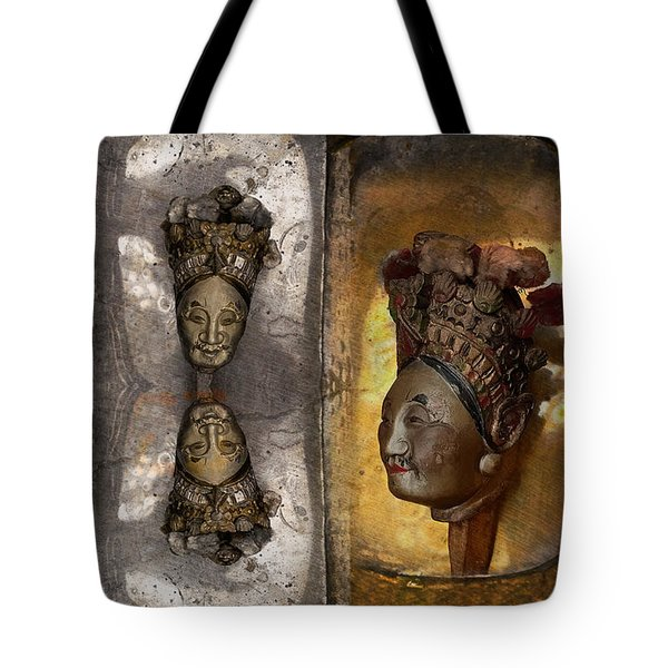 Japanese Puppets Tote Bag by Jeff Burgess