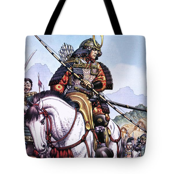 Japanese Samurai Tote Bag