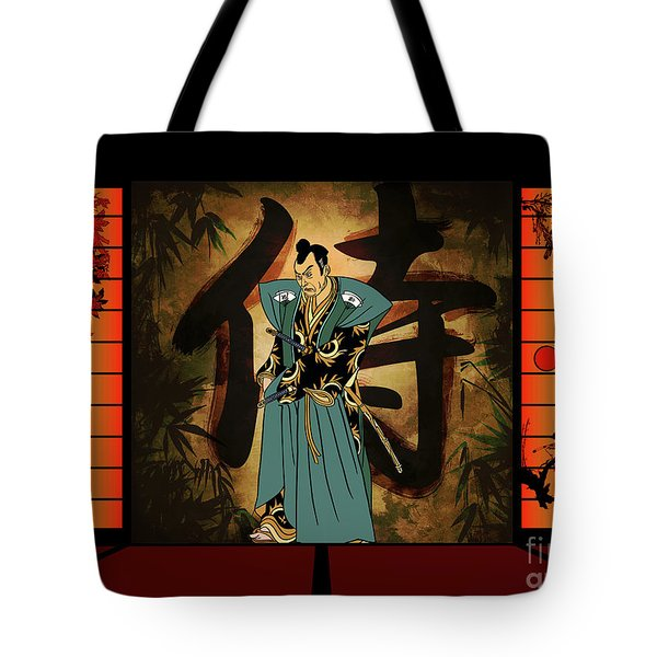 Tote Bag featuring the drawing Japanese Style by Andrzej Szczerski