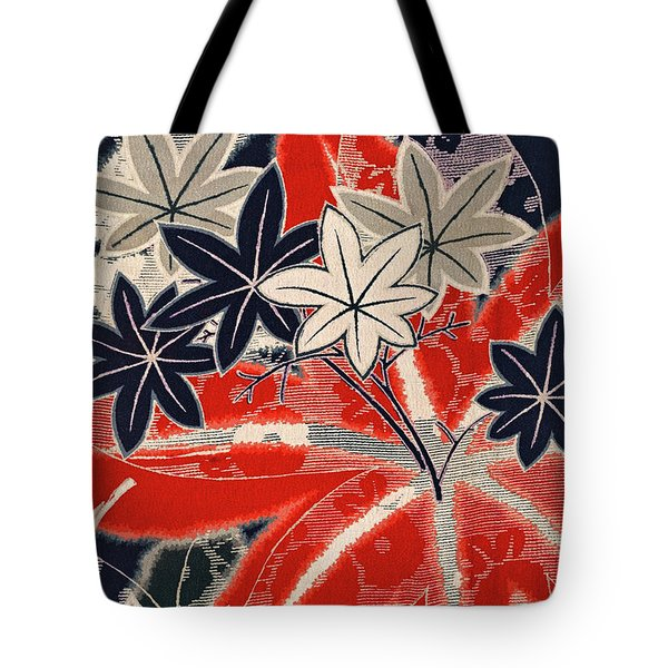 Japanese Style Maple Interior Art Painting. Tote Bag