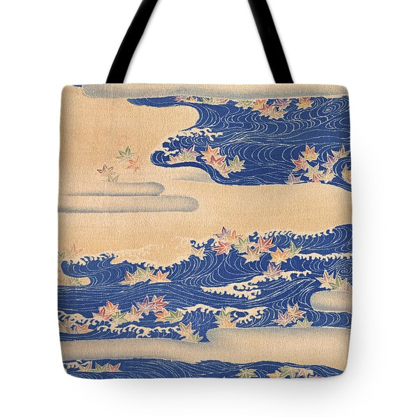 Japanese Style River And Cloud Modern Interior Art Painting. Tote Bag