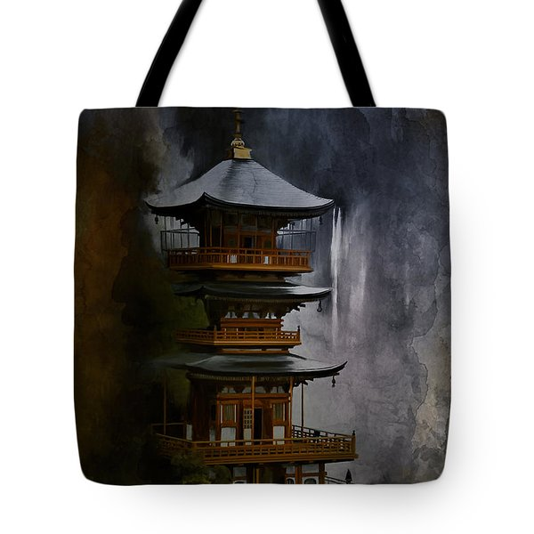 Japanese Temple. Tote Bag