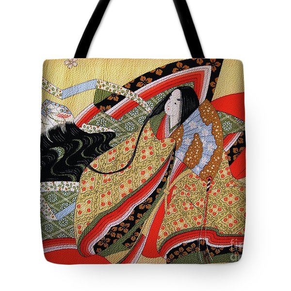 Japanese Textile Art Tote Bag