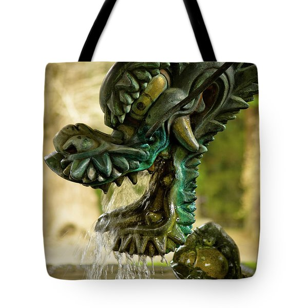 Japanese Water Dragon Tote Bag by Sebastian Musial
