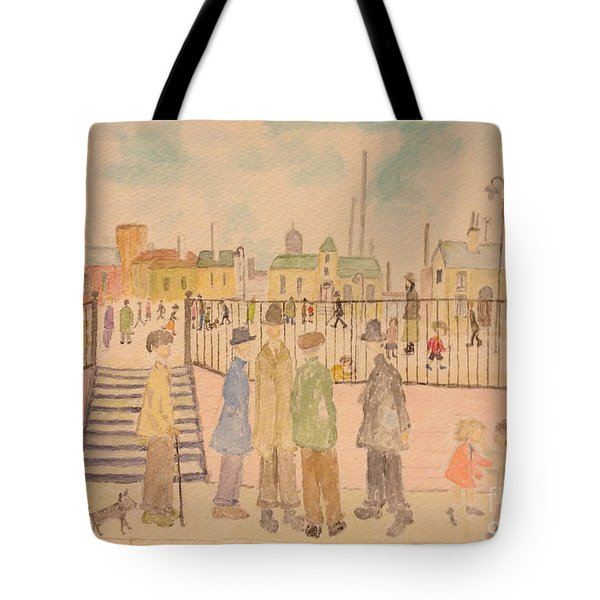 Japanese Whispers In Respect Of Lowry Tote Bag by Sawako Utsumi